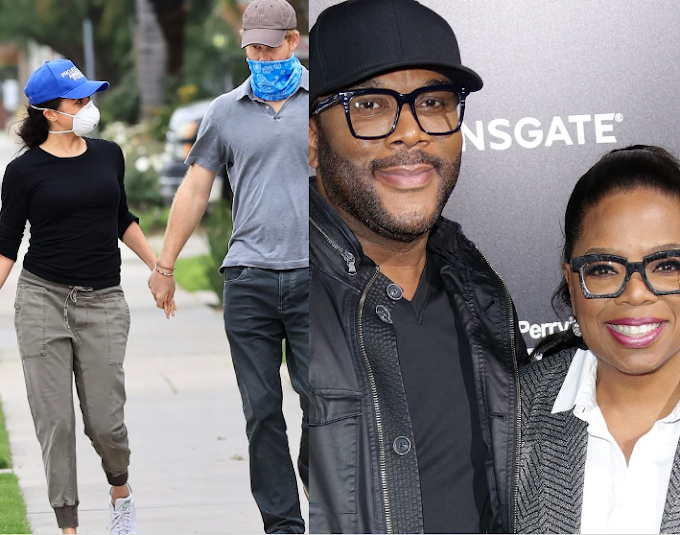 Meghan Markle and Prince Harry are living in Tyler Perry's £15million Beverly Hills mansion thanks to their mutual friend Oprah Winfrey
