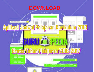 Aplikasi Jadwal Pelajaran Kurikulum 2013 Gratis Berbasis Excel