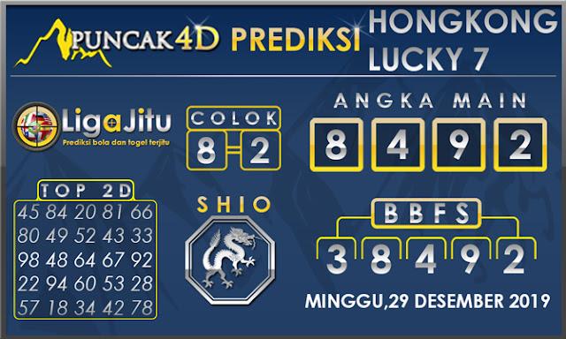 PREDIKSI TOGEL HONGKONG LUCKY7 PUNCAK4D 29 DESEMBER 2019