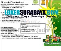Loker Surabaya di PT. Kartini Teh Nasional Sidoarjo Agustus 2020