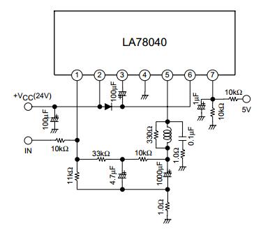 Schematic IC Vertikal TV LA78040