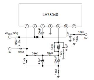 circuit schematic IC LA78040