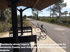 Residents along Legacy Trail Easement Frustrated by Sarasota County and Attorney Bora Kayan