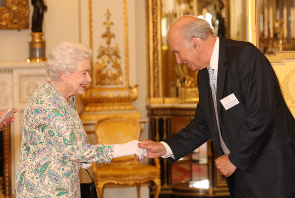 Queen Elizabeth attended a reception for the Winners of the Queens Award for Enterprise 2013 at Buckingham Palace