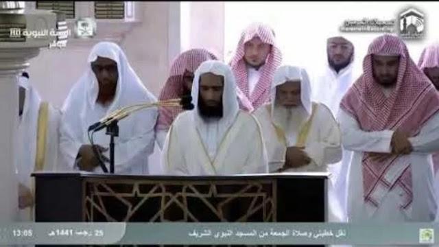Tangis Pilu Imam Masjid Nabawi ketika Shalat Jumat Terakhir di Tengah Corona