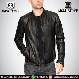 jaket kulit buaya asli