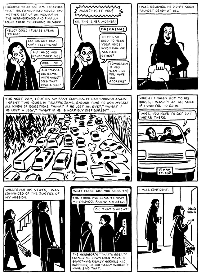 Read Chapter 11 - The Joke, page 107, from Marjane Satrapi's Persepolis 2 - The Story of a Return