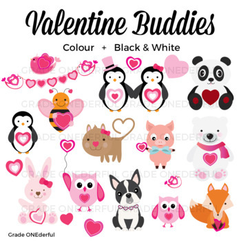 Valentine Animals Clipart