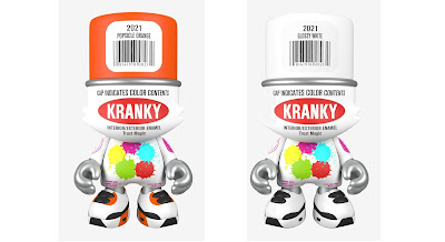 Popsicle Orange & Glossy White SuperKranky Vinyl Figures by Sket One x Superplastic