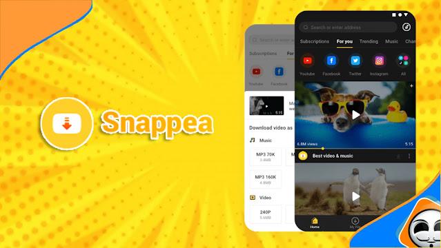 تطبيق Snappea لتحميل مقاطع الفيديو والموسيقى على هاتفك الأندرويد