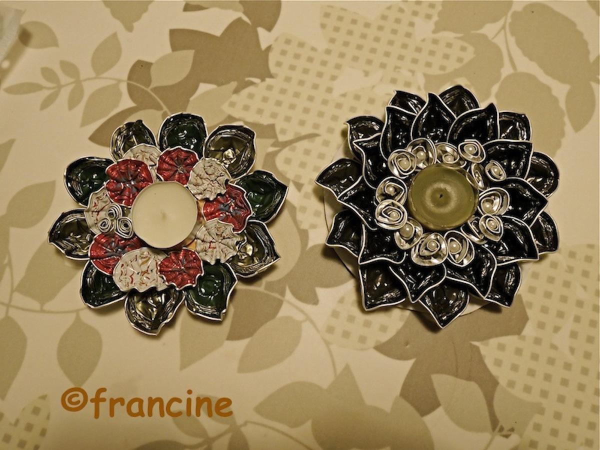 Super FRANCINE BRICOLE : Jolie fleur - support bougie de Noël en  MF66