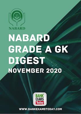 NABARD Grade A GK Digest: November 2020