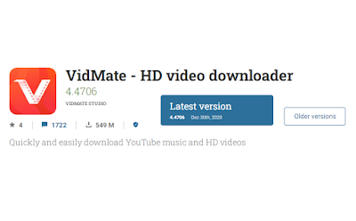 aplikasi Download video di Youtube vidmate