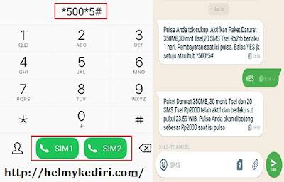 klaim paket darurat telkomsel via kode UMB