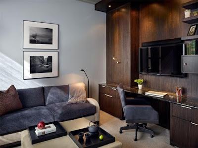 escritório pequeno em casa