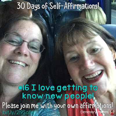 "30 Days of Self-Affirmations: Day 16: I love getting to know new people! For 30 days, I will be celebrating my own ""new year"" with self-affirmations. If you are interested in joining me, feel free to  write your own affirmations here, or respond on my social media here: http://bit.ly/2l9Sofe"