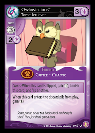 My Little Pony Owlowiscious, Tome Retriever Absolute Discord CCG Card