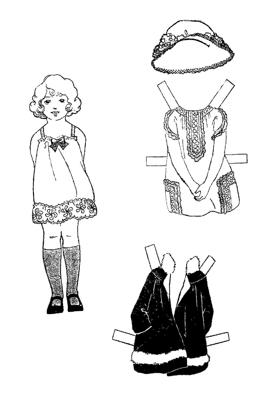 Mostly Paper Dolls Too!: MOLLY Paper Doll