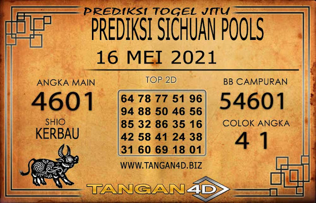 PREDIKSI TOGEL SICHUAN TANGAN4D 16 MEI 2021