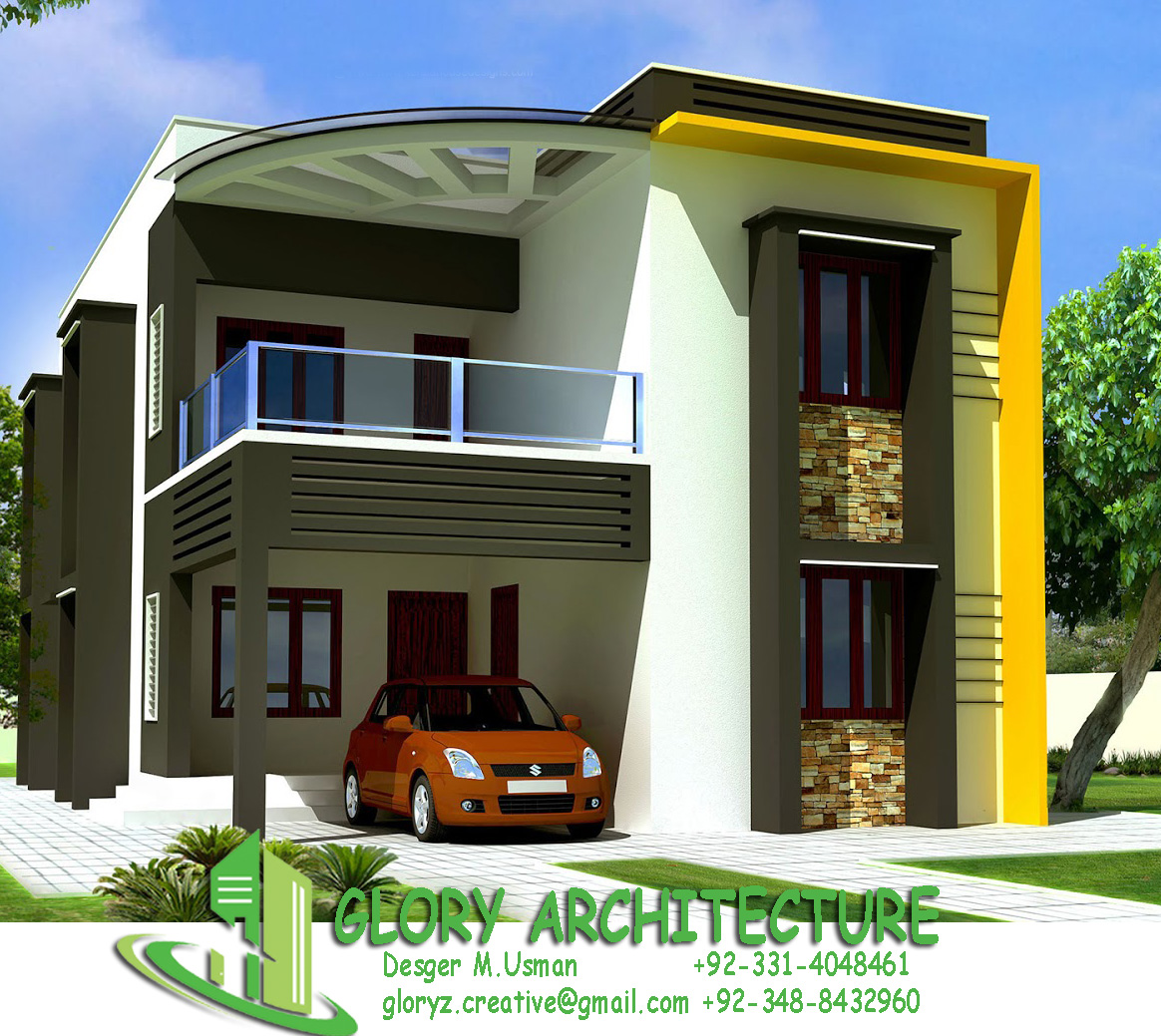 Front Elevation With Stilt Parking : House elevation islamabad pakistan