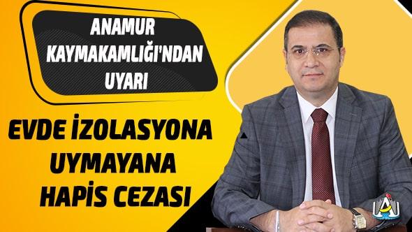 Anamur Haber,Anamur Kaymakamı Mehmet Nuri Başaran,Anamur Kaymakamlığı,