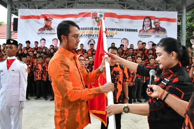 Bupati Lantik Pengurus Majelis Pimpinan Cabang Pemuda Pancasila Kabupaten Sinjai Tahun 2020-2024