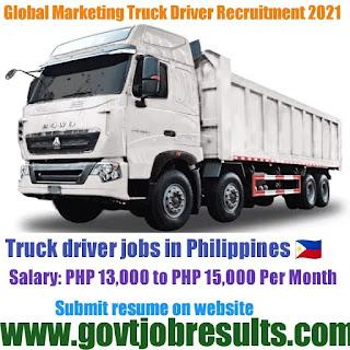 Golden Advance Marketing Truck Driver Recruitment 2021-22