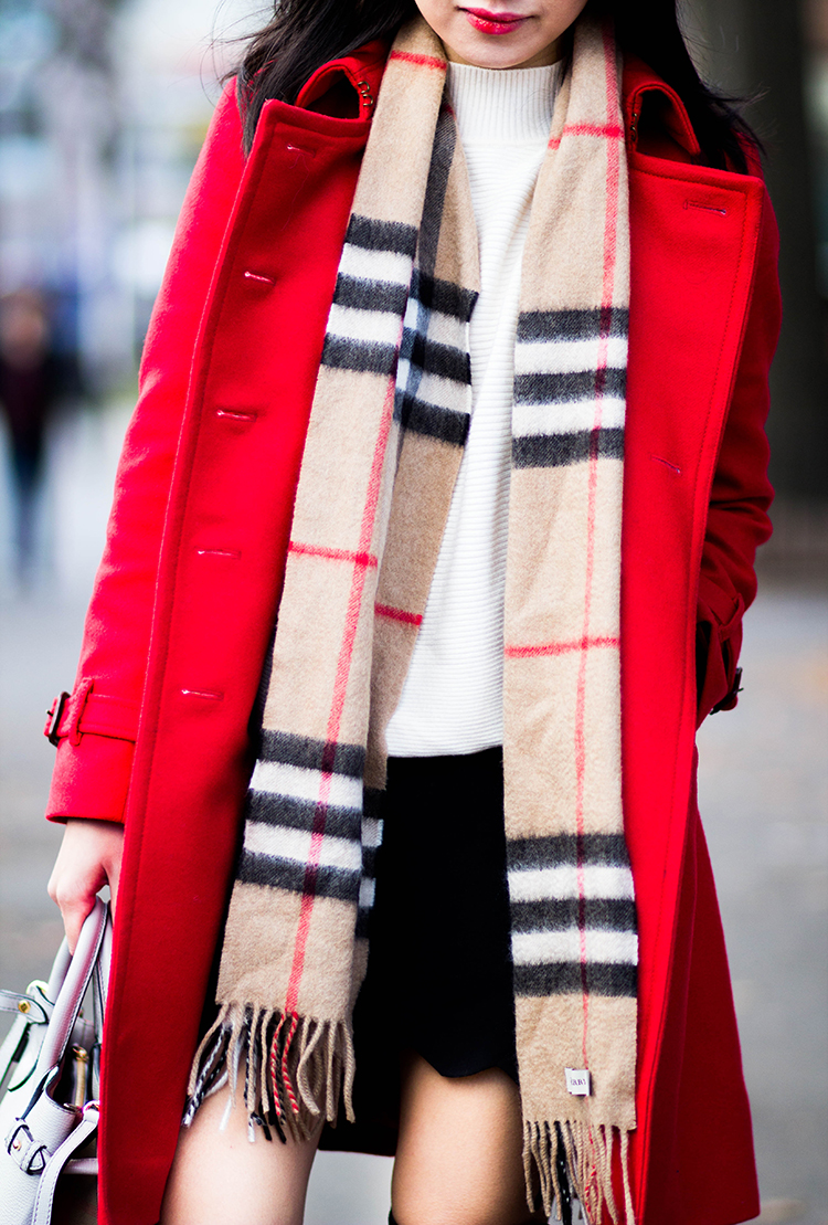 Red Wool Trench