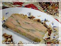 marbré de foie gras de canard aux poires et comté