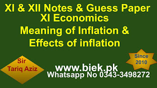 Meaning of Inflation & Effects of inflation