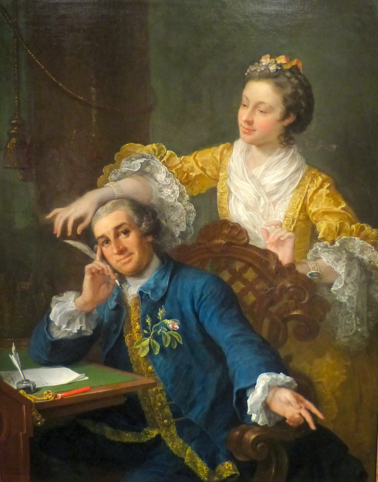 David Garrick and his wife, Eva-Maria Veigel  by William Hogarth (1757-64)