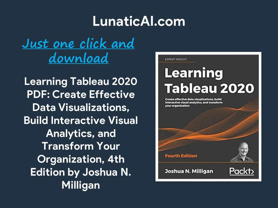 Learning Tableau 2020, 4th Edition PDF