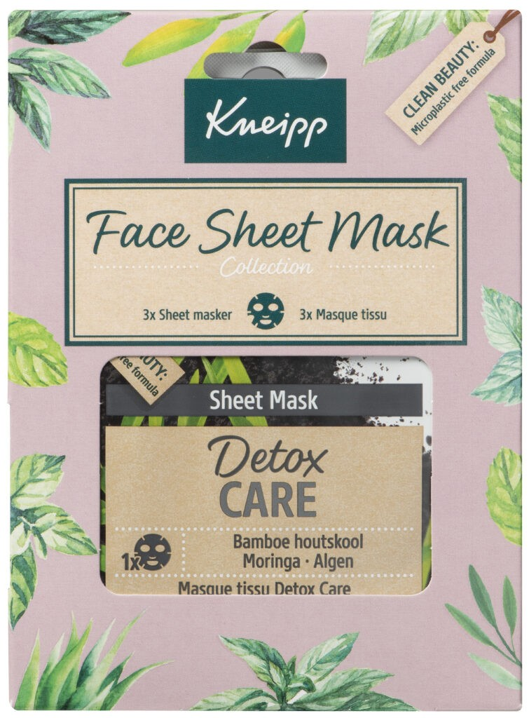 Nieuwe kneipp Giftsets voor Sint/kerst 2020 Face sheet mask collectie