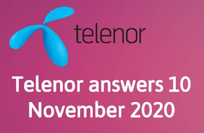 Telenor answers 10 November 2020 || Telenor Quiz 10 Nov 2020