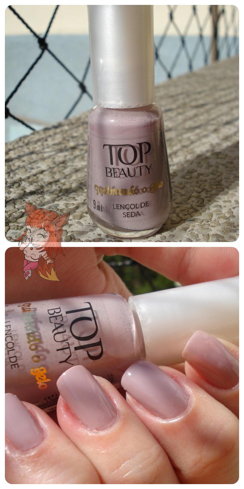 Esmalte Top Beauty :: Lençol de Seda + Off Road - Resenha