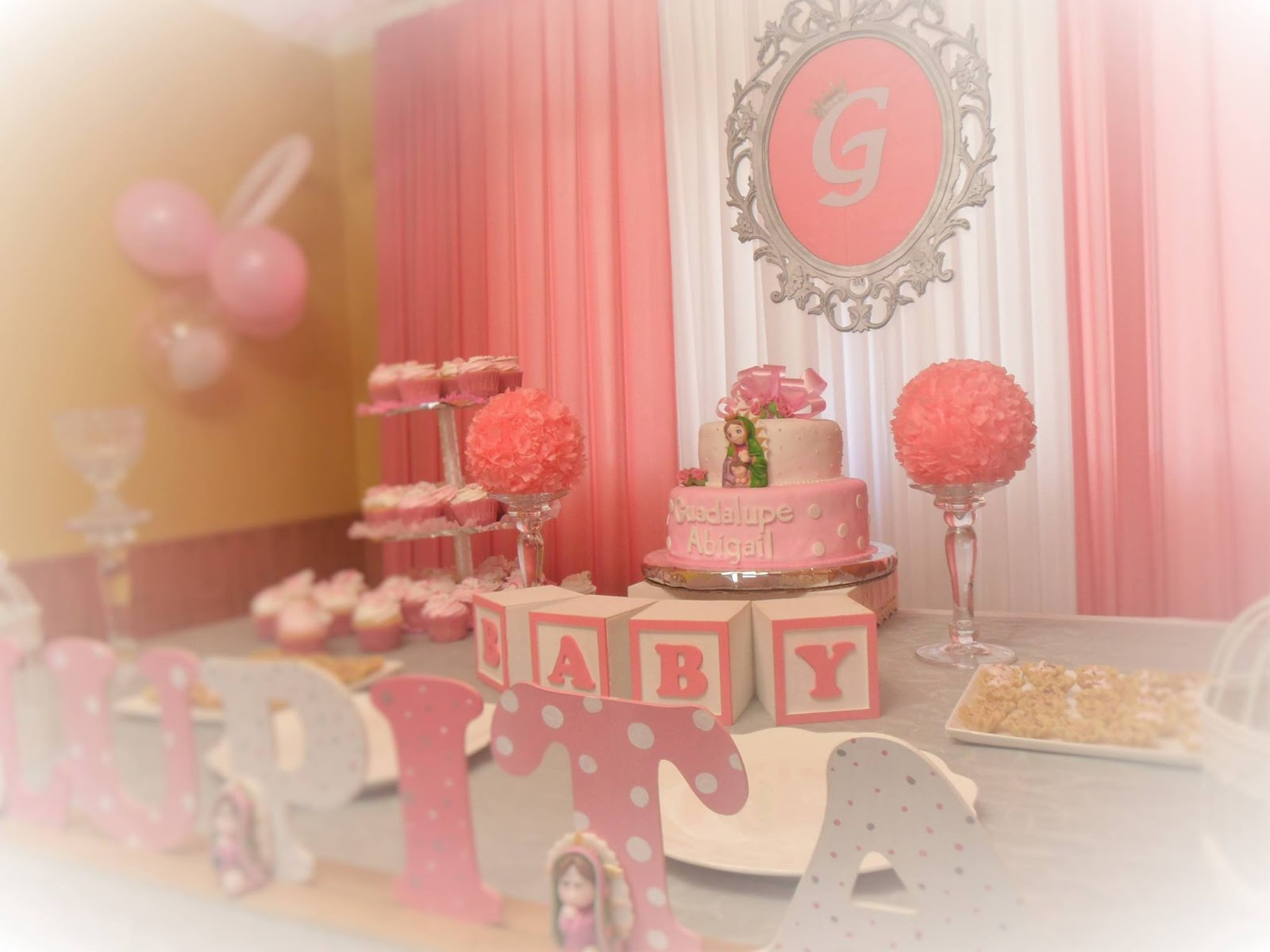 Decoraci n baby shower ni a guadalupe baby shower - Decoracion para foto ...