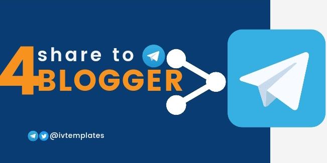 Share to Telegram Widget for Blogger