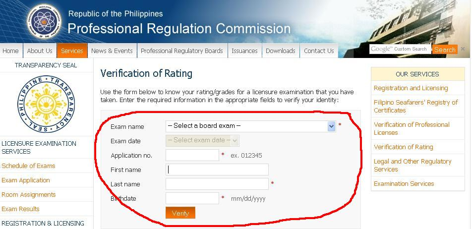 How to Verify Your Rating on PRC Board Exam You've Taken