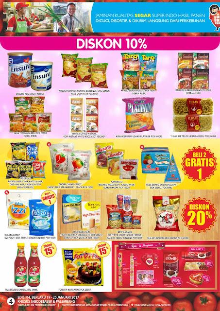 Katalog Super Indo Jabodetabek dan Palembang Edisi 19-25 Januari 2017