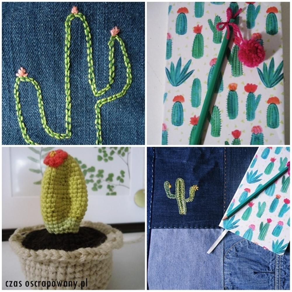 kaktus szydełkowy,kaktus haftowany