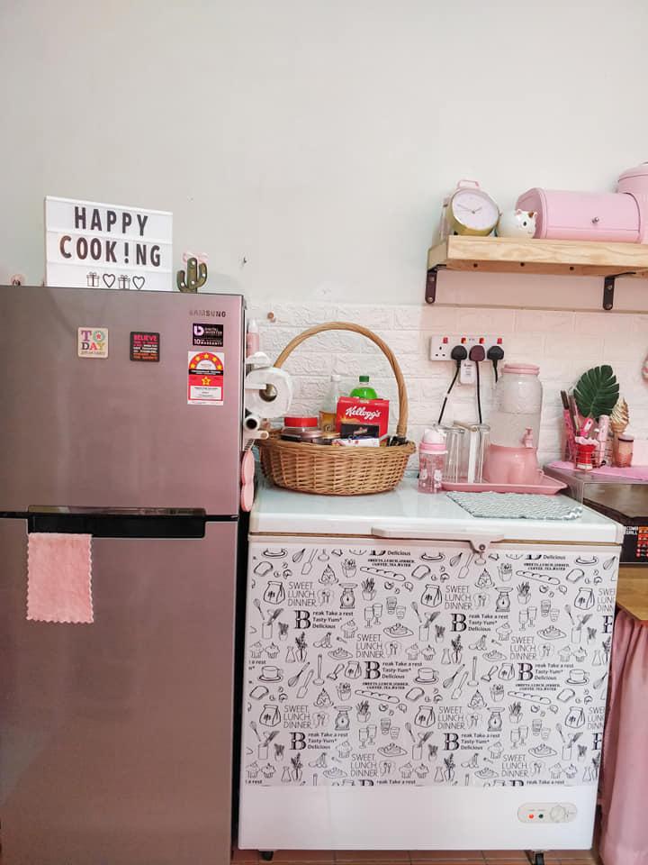 Idea Hias Dapur Bajet Rumah Sewa Tanpa Kabinet Bagi Peminat Pink Nadhie Wueen