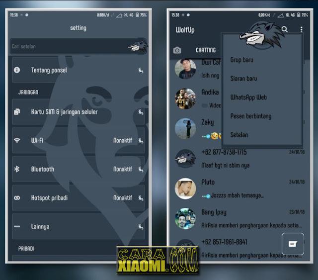 Download Tema MIUI Dark Wolf Update Desain Tema Untuk Xiaomi