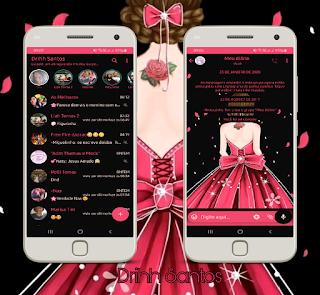 Princess Girl Theme For YOWhatsApp & Fouad WhatsApp By Driih Santos