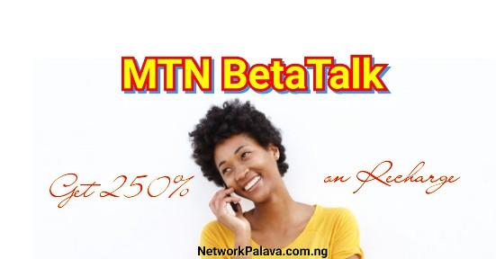 MTN BetaTalk Tariff Plan
