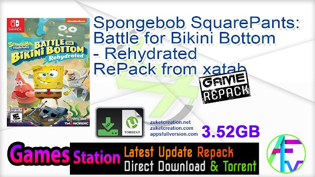 Spongebob SquarePants Battle for Bikini Bottom – Rehydrated RePack from xatab