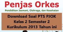 Download Soal PTS PJOK Kelas 2 Semester 2