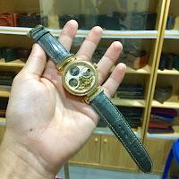 Dây đồng hồ Stuhrling da cá sấu chế tác thủ công tinh sảo