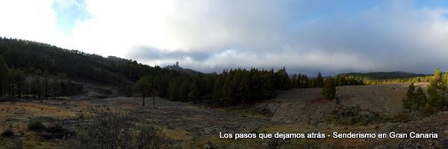 Panorámica con el Roque Nublo al fondo