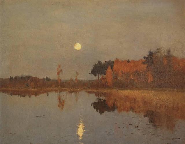 Исаак Ильич Левитан - Сумерки. Луна (2). 1899