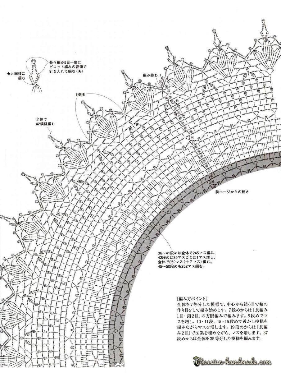 Схемы вязания скатерти с розами крючком (2)